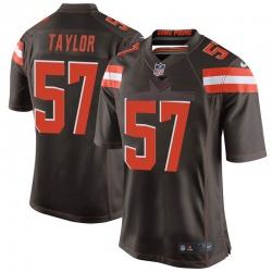 Adarius Taylor Cleveland Browns Men's Game Team Color Nike Jersey - Brown