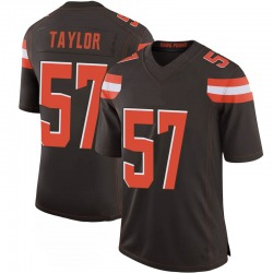 Adarius Taylor Cleveland Browns Men's Limited 100th Vapor Nike Jersey - Brown