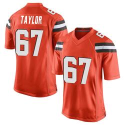 Alex Taylor Cleveland Browns Men's Game Alternate Nike Jersey - Orange