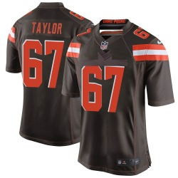 Alex Taylor Cleveland Browns Men's Game Team Color Nike Jersey - Brown