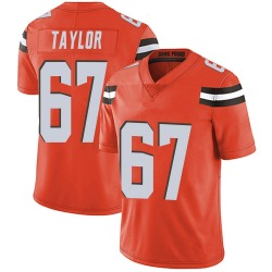 Alex Taylor Cleveland Browns Men's Limited Alternate Vapor Untouchable Nike Jersey - Orange