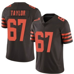 Alex Taylor Cleveland Browns Men's Limited Color Rush Nike Jersey - Brown