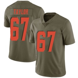 Alex Taylor Cleveland Browns Men's Limited Salute to Service Nike Jersey - Green