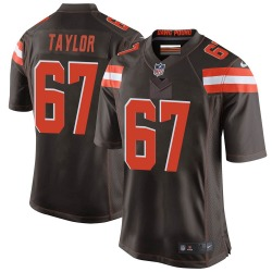 Alex Taylor Cleveland Browns Youth Game Team Color Nike Jersey - Brown