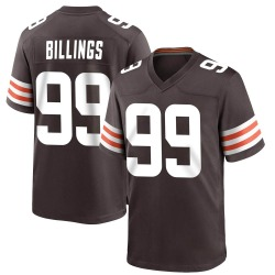Andrew Billings Cleveland Browns Youth Game Team Color Nike Jersey - Brown
