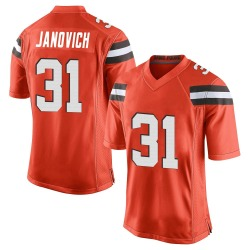 Andy Janovich Cleveland Browns Men's Game Alternate Nike Jersey - Orange