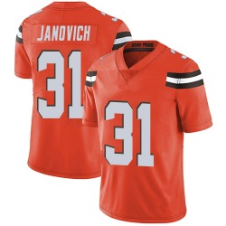 Andy Janovich Cleveland Browns Youth Limited Alternate Vapor Untouchable Nike Jersey - Orange