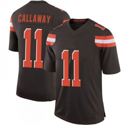Antonio Callaway Cleveland Browns Men's Limited 100th Vapor Nike Jersey - Brown