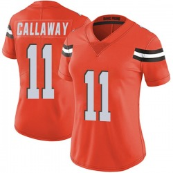 Antonio Callaway Cleveland Browns Women's Limited Alternate Vapor Untouchable Nike Jersey - Orange