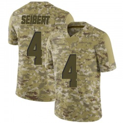 Austin Seibert Cleveland Browns Men's Limited 2018 Salute to Service Nike Jersey - Camo