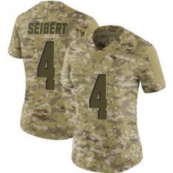 Austin Seibert Cleveland Browns Women's Limited 2018 Salute to Service Nike Jersey - Camo