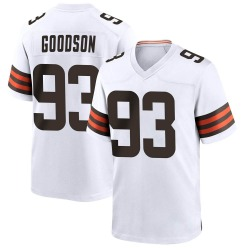 B.J. Goodson Cleveland Browns Men's Game Nike Jersey - White