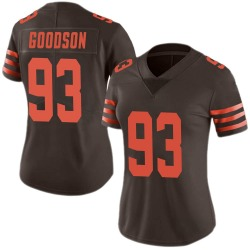B.J. Goodson Cleveland Browns Women's Limited Color Rush Nike Jersey - Brown