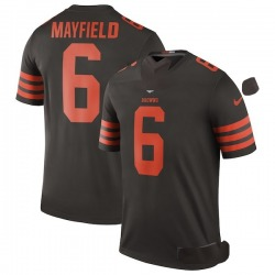 Baker Mayfield Cleveland Browns Men's Color Rush Legend Nike Jersey - Brown