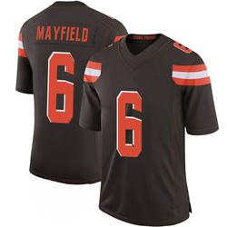 Baker Mayfield Cleveland Browns Men's Limited 100th Vapor Nike Jersey - Brown