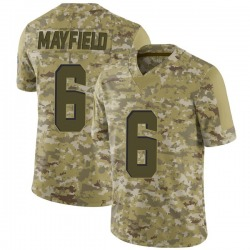 Baker Mayfield Cleveland Browns Men's Limited 2018 Salute to Service Nike Jersey - Camo