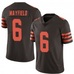 Baker Mayfield Cleveland Browns Men's Limited Color Rush Nike Jersey - Brown