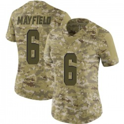 Baker Mayfield Cleveland Browns Women's Limited 2018 Salute to Service Nike Jersey - Camo