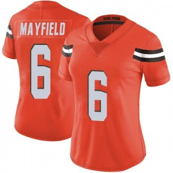 Baker Mayfield Cleveland Browns Women's Limited Alternate Vapor Untouchable Nike Jersey - Orange