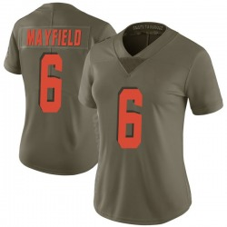 Baker Mayfield Cleveland Browns Women's Limited Salute to Service Nike Jersey - Green