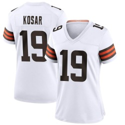 Bernie Kosar Cleveland Browns Women's Game Nike Jersey - White
