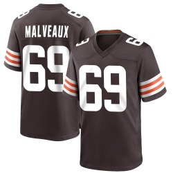 Cameron Malveaux Cleveland Browns Youth Game Team Color Nike Jersey - Brown