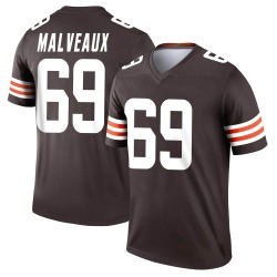 Cameron Malveaux Cleveland Browns Youth Legend Nike Jersey - Brown