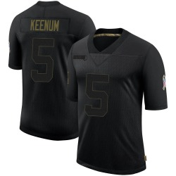 Case Keenum Cleveland Browns Men's Limited 2020 Salute To Service Nike Jersey - Black