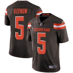 Case Keenum Cleveland Browns Men's Limited Team Color Vapor Untouchable Nike Jersey - Brown