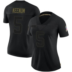 Case Keenum Cleveland Browns Women's Limited 2020 Salute To Service Nike Jersey - Black