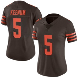 Case Keenum Cleveland Browns Women's Limited Color Rush Nike Jersey - Brown