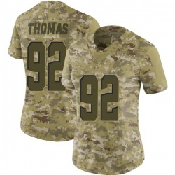 Chad Thomas Cleveland Browns Women's Limited 2018 Salute to Service Nike Jersey - Camo