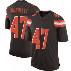 Charley Hughlett Cleveland Browns Men's Limited 100th Vapor Nike Jersey - Brown