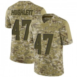 Charley Hughlett Cleveland Browns Men's Limited 2018 Salute to Service Nike Jersey - Camo