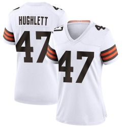 Charley Hughlett Cleveland Browns Women's Game Nike Jersey - White