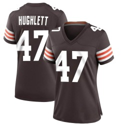 Charley Hughlett Cleveland Browns Women's Game Team Color Nike Jersey - Brown