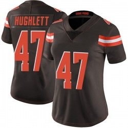 Charley Hughlett Cleveland Browns Women's Limited Team Color Vapor Untouchable Nike Jersey - Brown