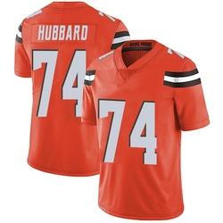 Chris Hubbard Cleveland Browns Men's Limited Alternate Vapor Untouchable Nike Jersey - Orange