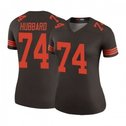 Chris Hubbard Cleveland Browns Women's Color Rush Legend Nike Jersey - Brown