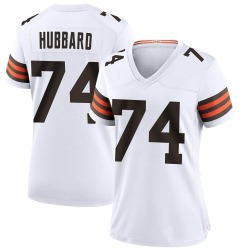 Chris Hubbard Cleveland Browns Women's Game Nike Jersey - White