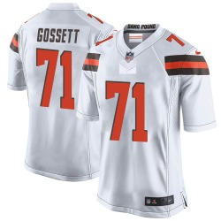 Colby Gossett Cleveland Browns Men's Game Nike Jersey - White