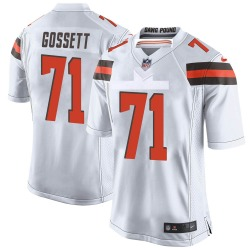 Colby Gossett Cleveland Browns Youth Game Nike Jersey - White