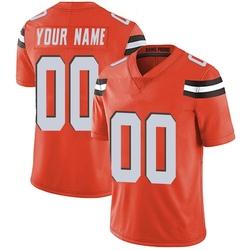 Custom Cleveland Browns Men's Limited Custom Alternate Vapor Untouchable Nike Jersey - Orange