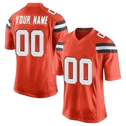 Custom Cleveland Browns Youth Game Custom Alternate Nike Jersey - Orange