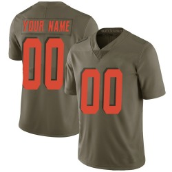 Custom Cleveland Browns Youth Limited Custom Salute to Service Nike Jersey - Green