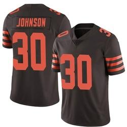 D'Ernest Johnson Cleveland Browns Men's Limited Color Rush Nike Jersey - Brown