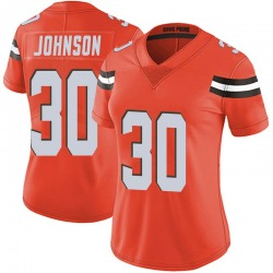 D'Ernest Johnson Cleveland Browns Women's Limited Alternate Vapor Untouchable Nike Jersey - Orange
