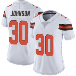 D'Ernest Johnson Cleveland Browns Women's Limited Vapor Untouchable Nike Jersey - White