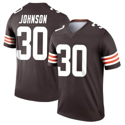 D'Ernest Johnson Cleveland Browns Youth Legend Nike Jersey - Brown