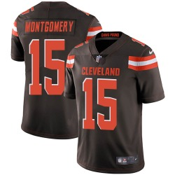 D.J. Montgomery Cleveland Browns Men's Limited Team Color Vapor Untouchable Nike Jersey - Brown